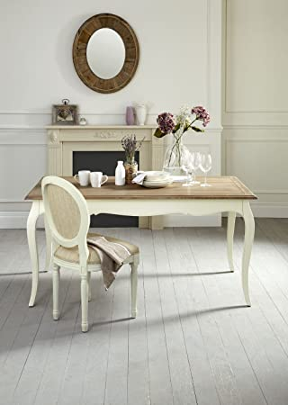 Molier French Style Shabby Chic Dining Table Amazon Co Uk