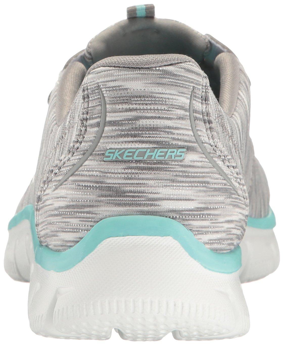 Skechers Women's Sport Empire - Rock Around Relaxed Fit Fashion Sneaker, Gray/Light Blue, 9 B(M) US by Skechers (Image #2)