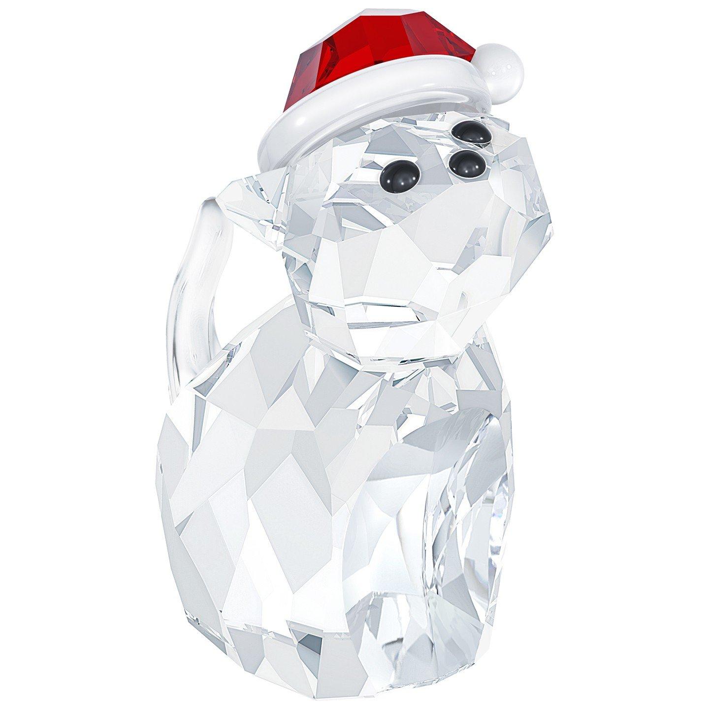 Swarovski 5060448''Cat with Santa's Hat Figurine