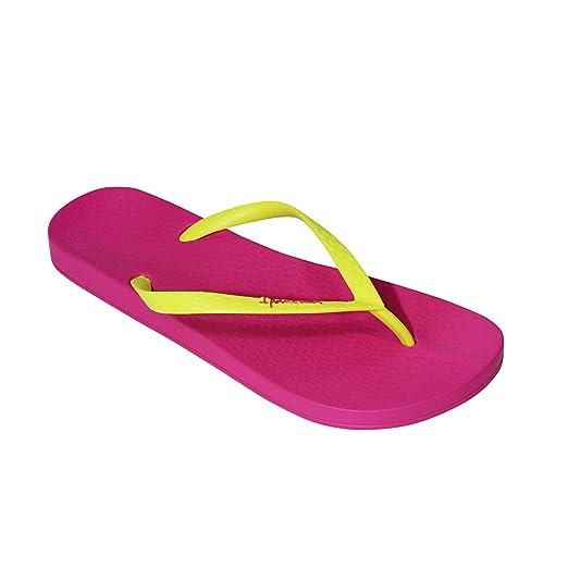 ce4220d9e96 Amazon.com  Ipanema Womens Ana Tan Flip-Flop Pink Yellow 5  Clothing