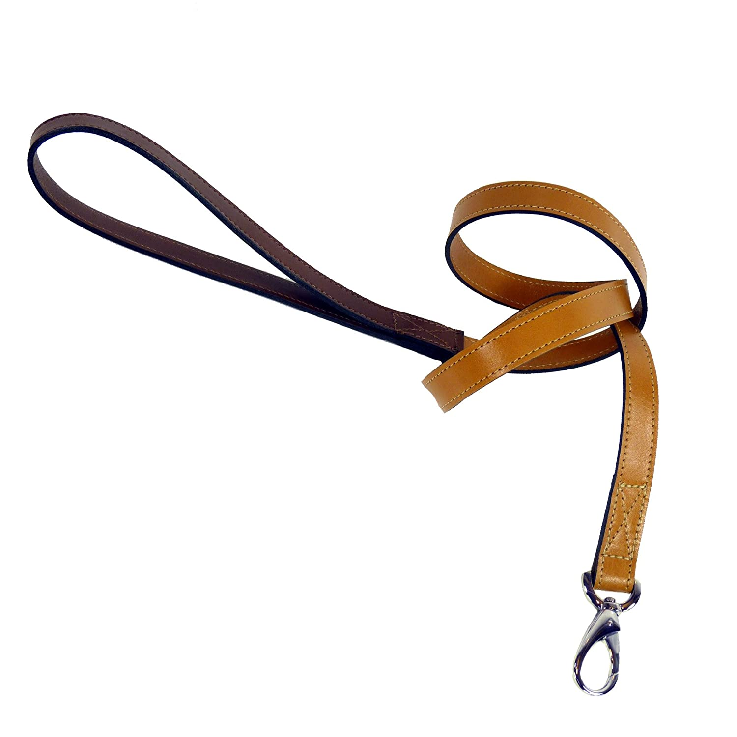 Hartman & pink 6031 Hartman Dog Lead, 3 4-Inch, Tan with Papaya Handle