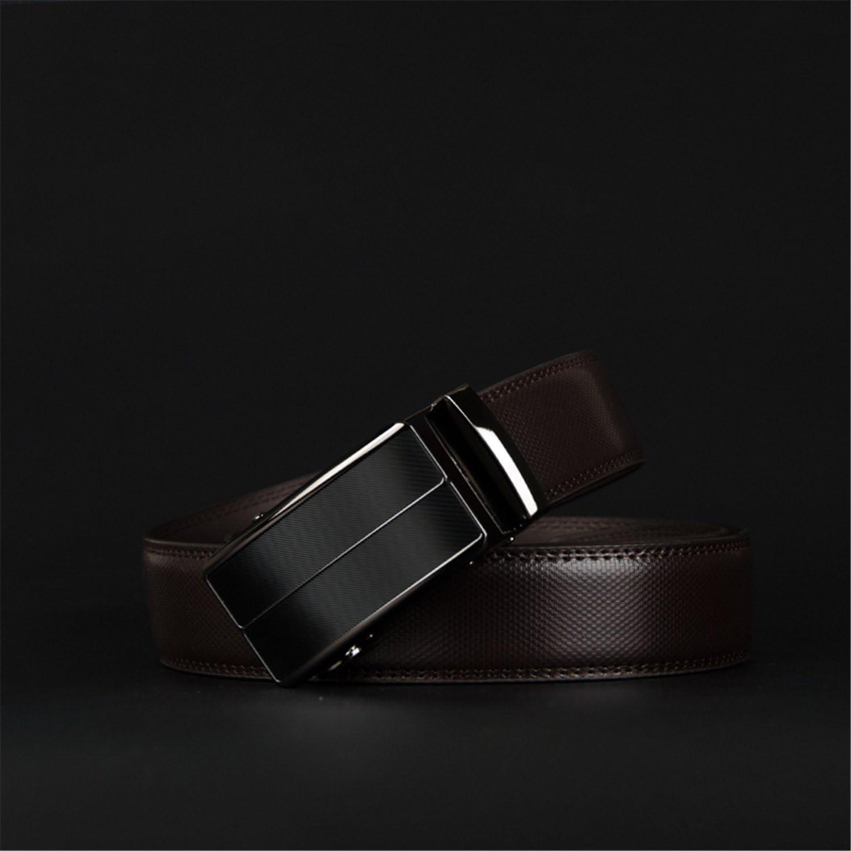 Anieca Cow Genuine Leather MenS Belt Automatic Buckle Belts Alloy Buckle Belts