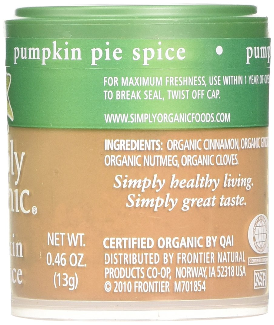 Simply Organic Mini, Og, Pumkin Pie Spice, 0.46-Ounce (Pack of 6) by Simply Organic (Image #3)