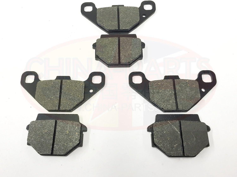 Rear Set of 3 BRAKE PAD SET for Quadzilla SMC 300 XLC Stinger Front