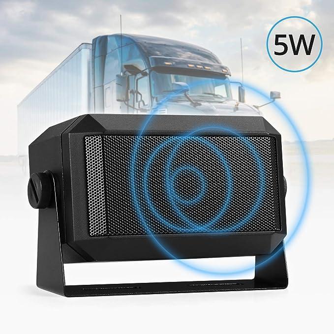 Radioddity Altavoces Externos de 5W, con Conector de 3,5 mm, para Radio CB Radioaficionados Yeasu, Kenwood, Icom, Radioddity, Leixen: Amazon.es: Electrónica