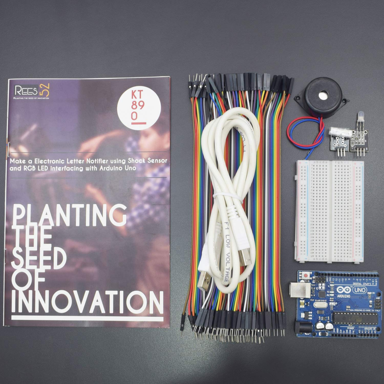 Rees52 Make An Electronic Letter Notifier Using Shock Sensor And Rgb Wiring Led Arduino Interfacing With Uno Step By Instruction Manual Kt890