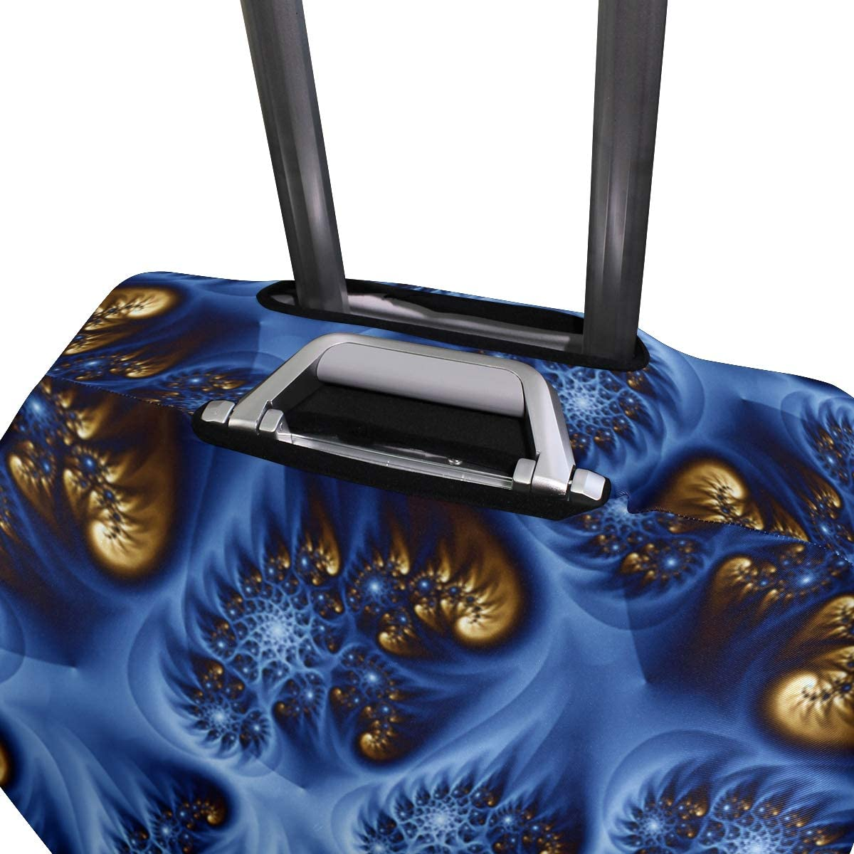 18//22//26//29 Inch Travel Suitcase Luggage Protective Cover with Regularity Across Zebra Couple