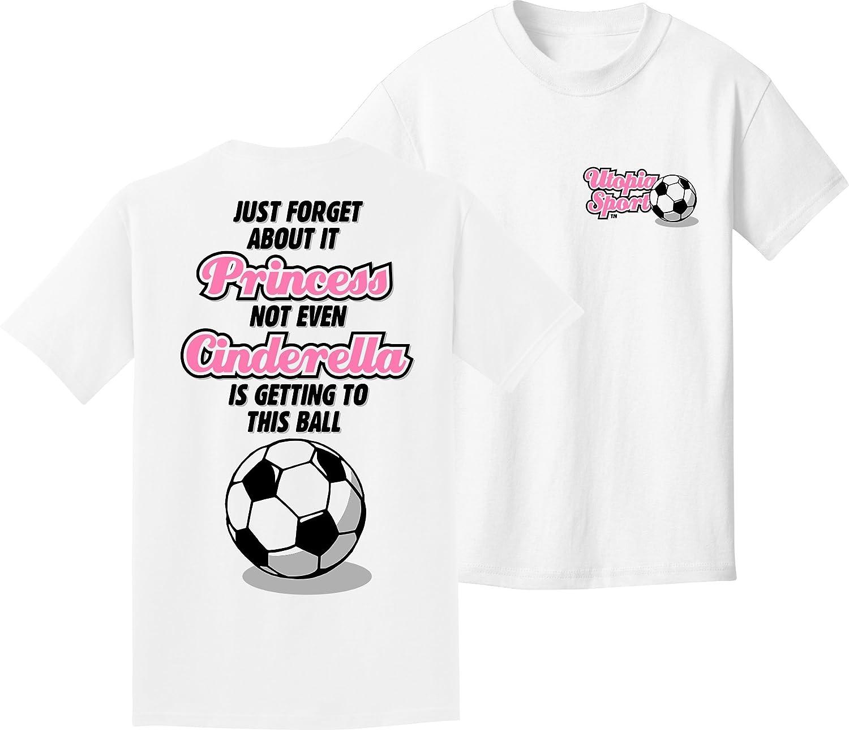 ガールズサッカーTシャツ:シンデレラ B00YPI8ND4ホワイト Youth X-Large