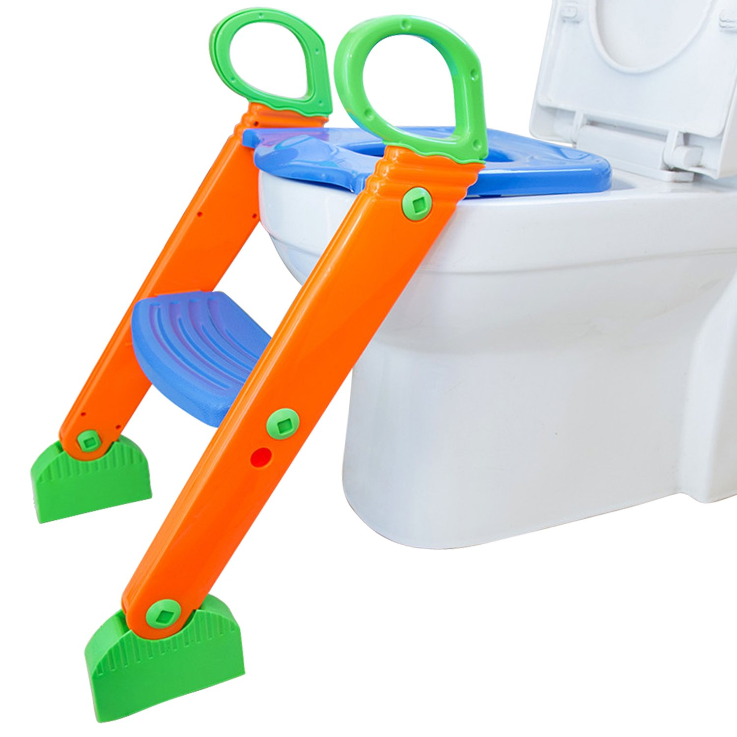 Beinhome Potty Training Seat with Non-Slip Ladder Adjustable Baby 2 in 1 Training Step Stool, Comfortable & Safe Padded Potty Trainer Toilet Seat Chair for Boys Girls by Beinhome