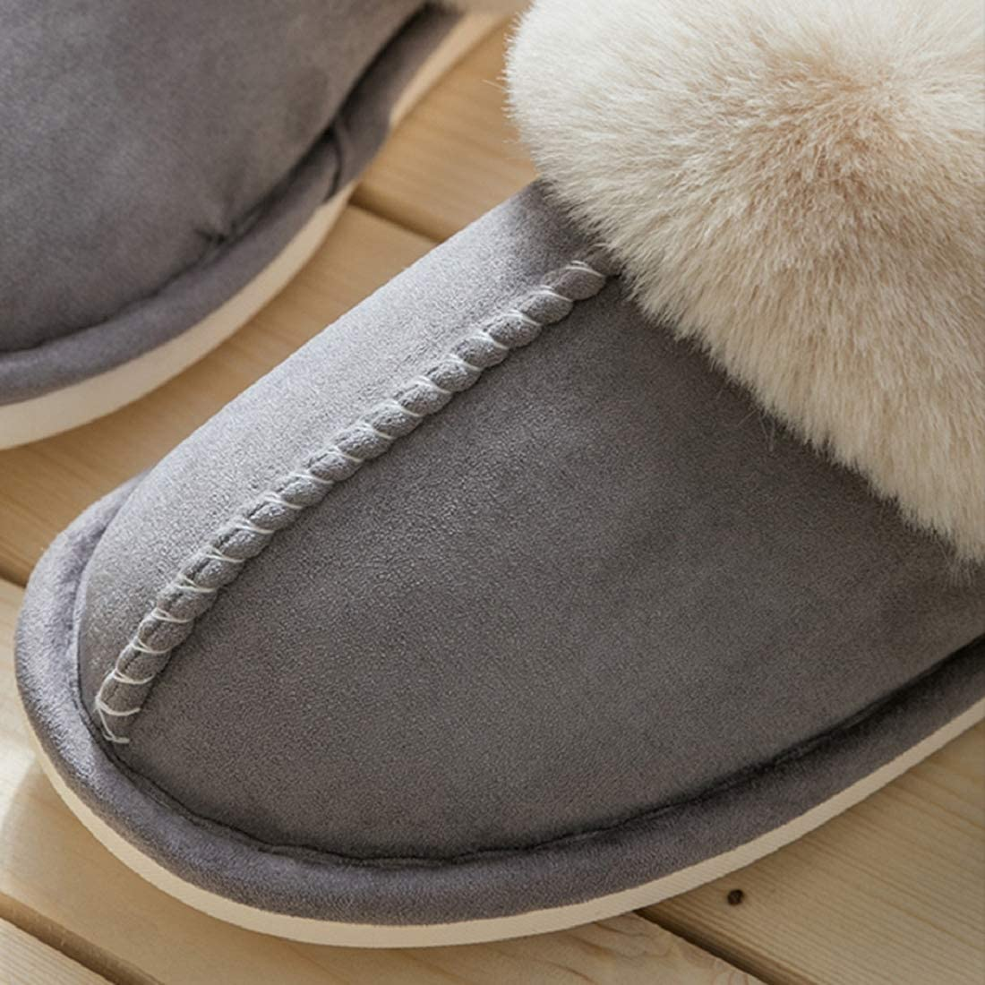 Womens Slipper Memory Foam Fluffy Soft Warm Slip On House Slippers,Anti-Skid Cozy Plush for Indoor Outdoor