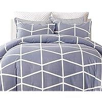 Gioia Casa Quilt Cover Set 100% Cotton Mandy Reversible Quilt Cover Set Includes 2 Pillow Cases Bedding Soft