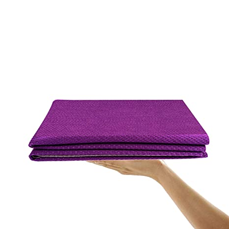 ZXT-parts Thin Yoga Mat,Lite Yoga Mat, Darling Yoga Mat Foldable,Machine Washable,Portable,Super Absorbent,Best Yoga mat for Hot Yoga,Pilates, ...