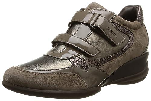 Geox D Persefone A, Sneakers da Donna, Grigio (c1018/sint PERL/