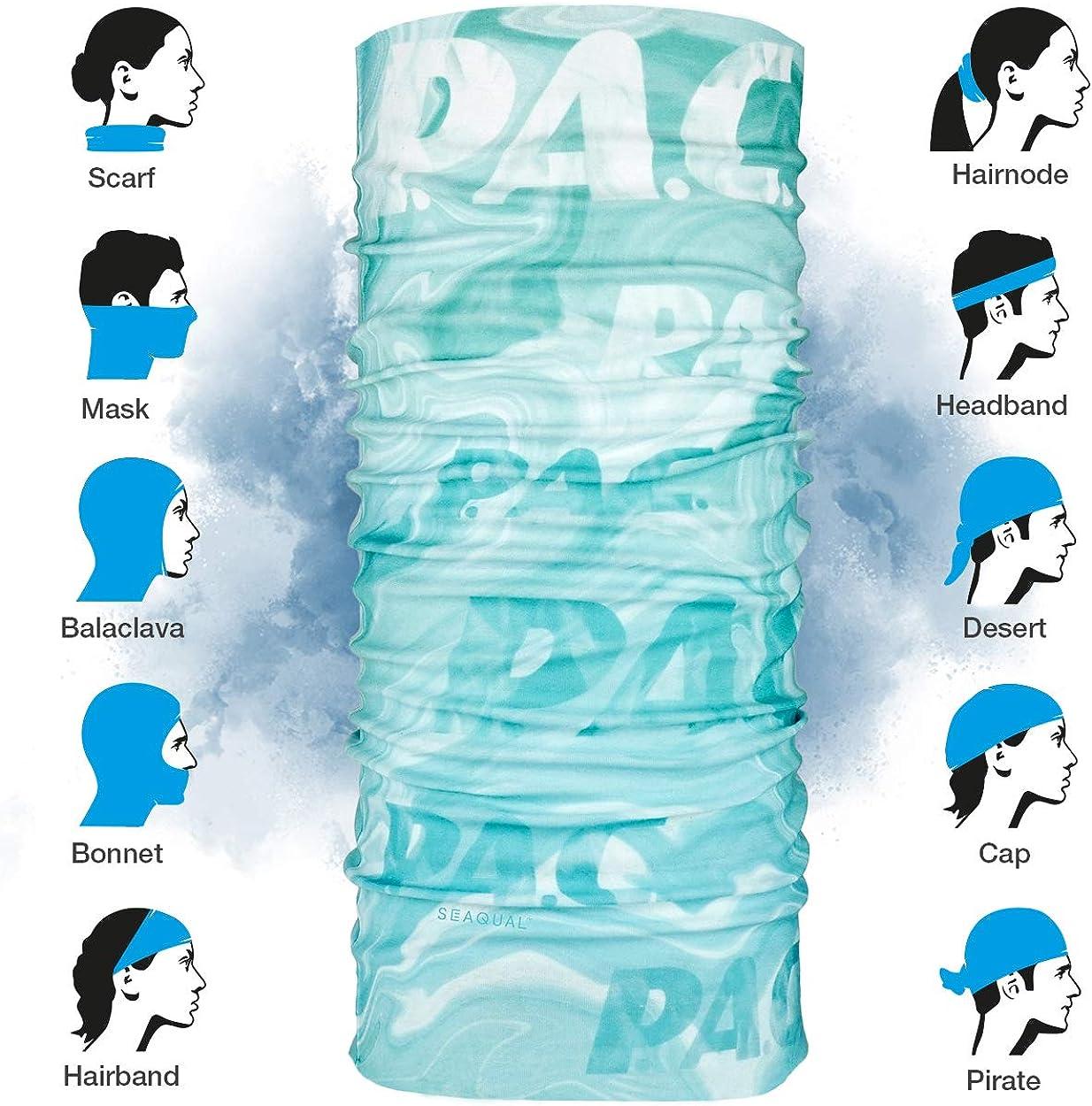 Kopftuch Unisex nachhaltiges Schlauchtuch verschiedenste Designs 10 Tragevarianten aus Meeresplastik hergestellt Stirnband Ocean Upcycling Multifunktionstuch Schal nahtloses Halstuch P.A.C
