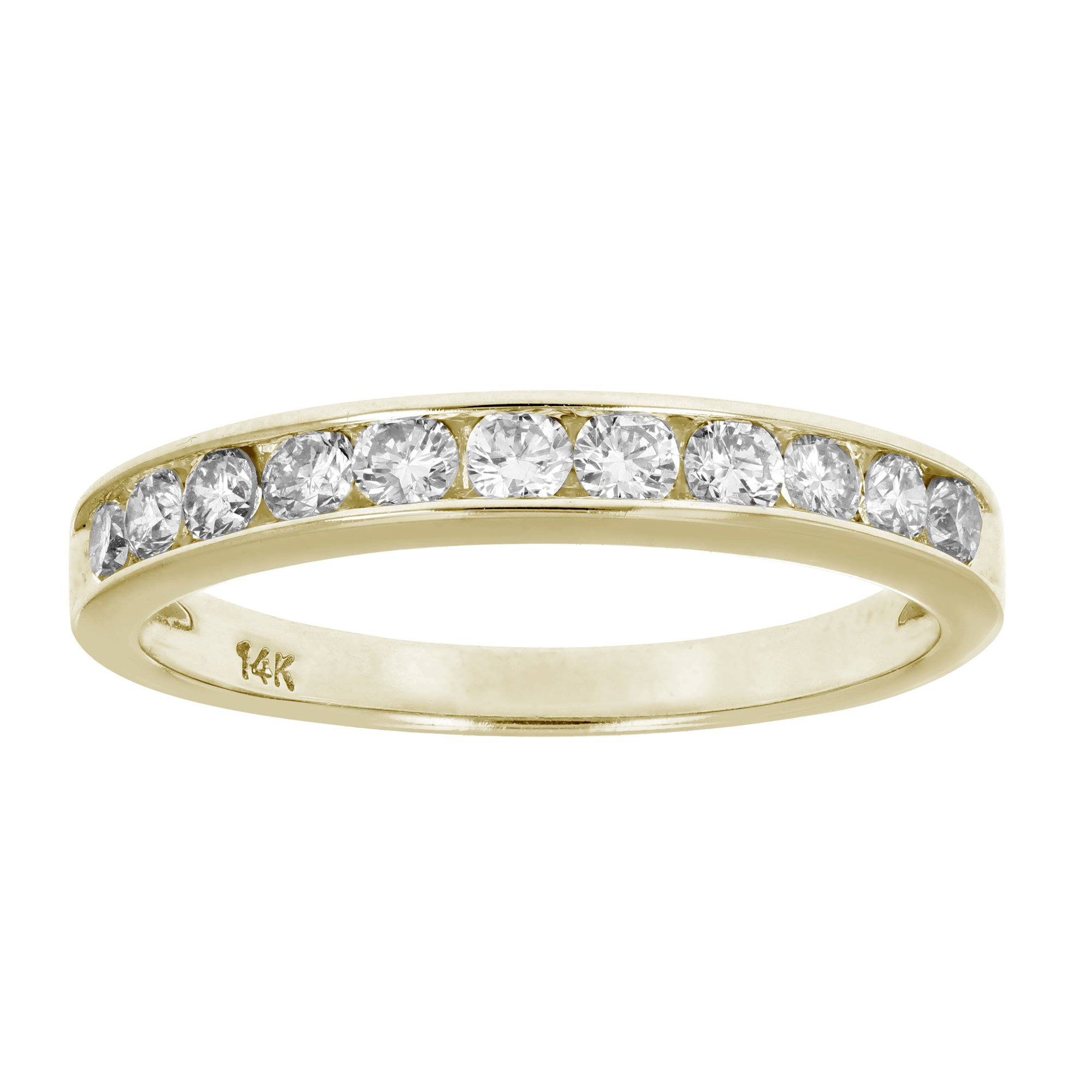 1/2 CT Classic Diamond Wedding Band in 14K Yellow Gold In Size 5.5