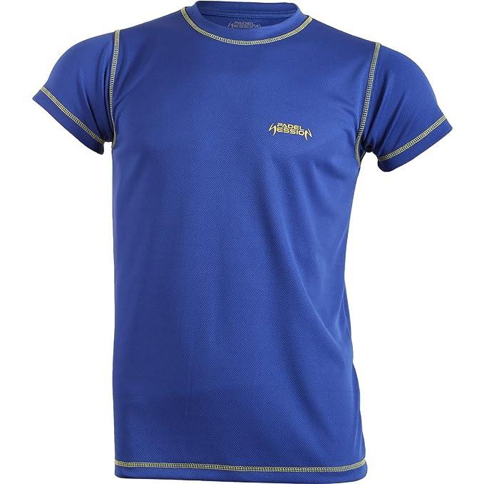 Padel Session Camiseta Tecnica Royal Amarillo: Amazon.es: Deportes ...
