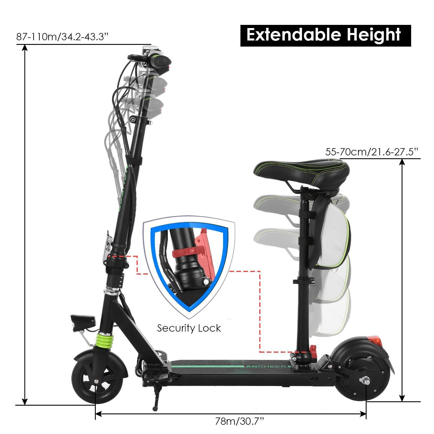 Amazon.com : Etuoji Electric Scooters For Adults With Seat ...