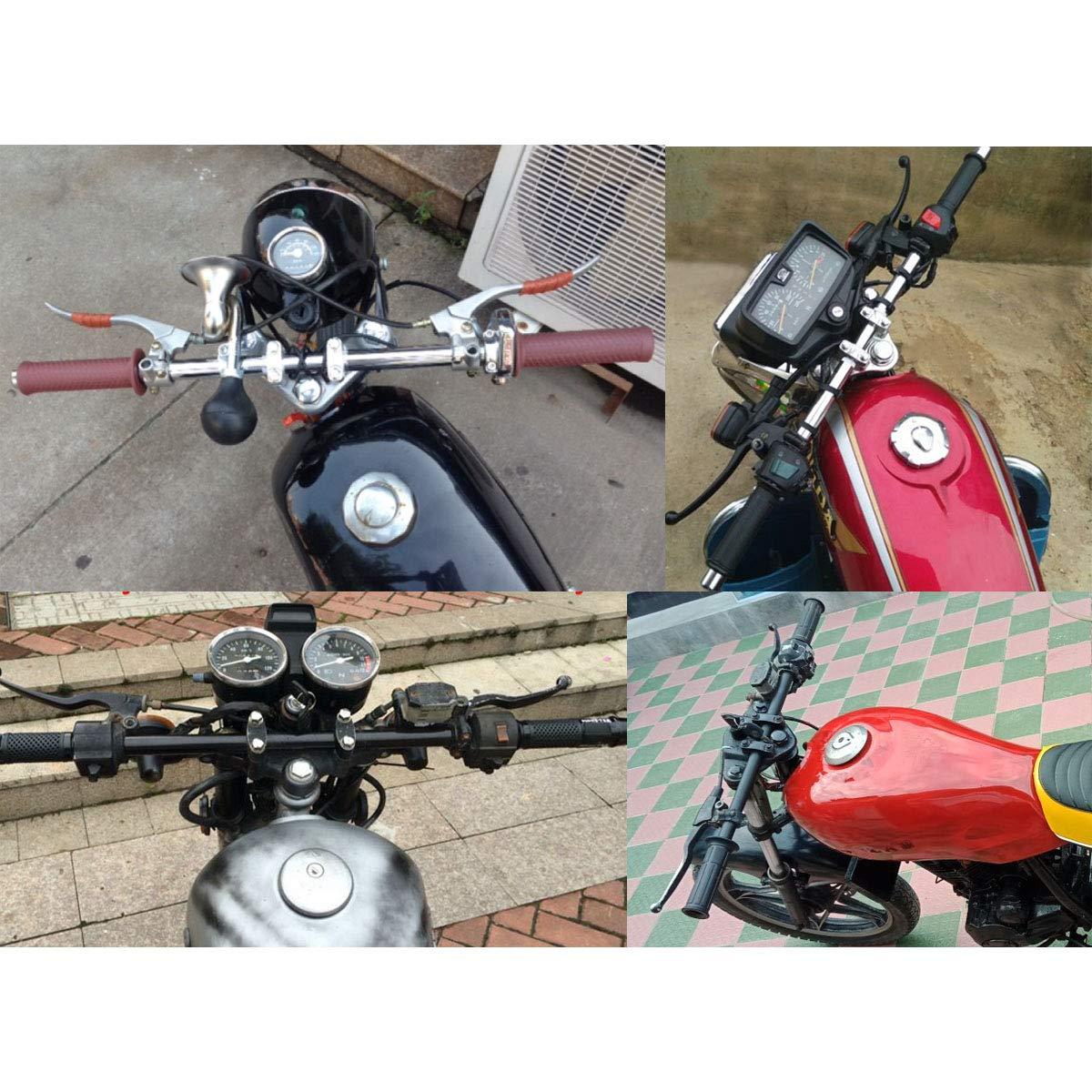 AAlamor 7//8 Pollici 22Mm Moto Dritto Manubrio per Suzuki//Honda//Yamaha//Harley Universal Nero