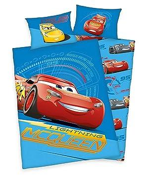 Arle Living 3 TLG. Parure de lit pour bébé Motif Disney Cars 3