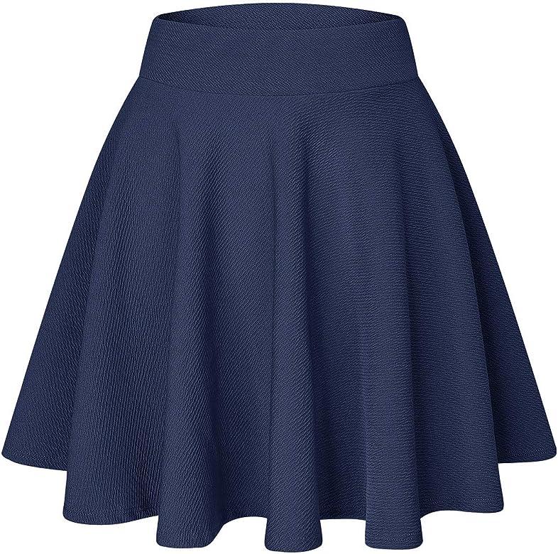 YOUCHAN Falda Mujer Falda Plisada Básica Patinador Elástica ...
