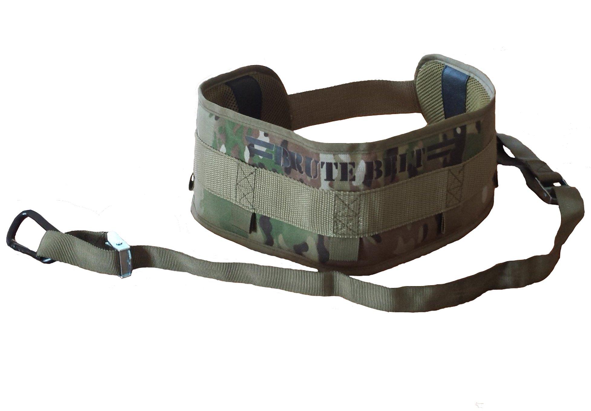 Brute Belt - Nylon Dip Pullup Squat Belt (Camo, Small)
