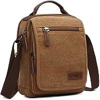 LOSMILE Bolsos Bandolera Hombre Pequeñas Bolsos de mano Bolsa de Hombro Messenger Bag Bolsa de Lona para iPad mini…