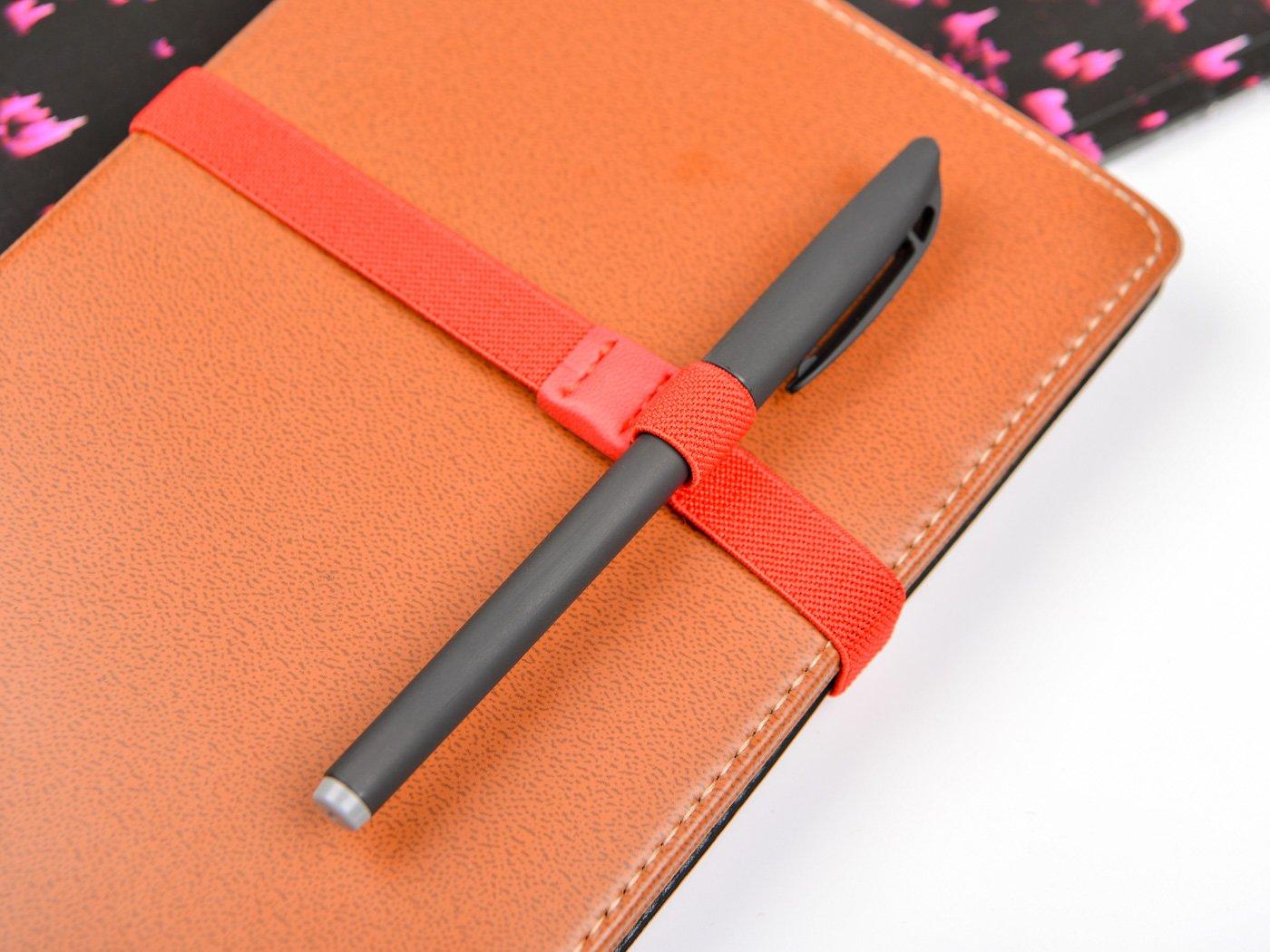 molla planner Tadae portapenne con fascia elastica per notebook diari 4/pezzi