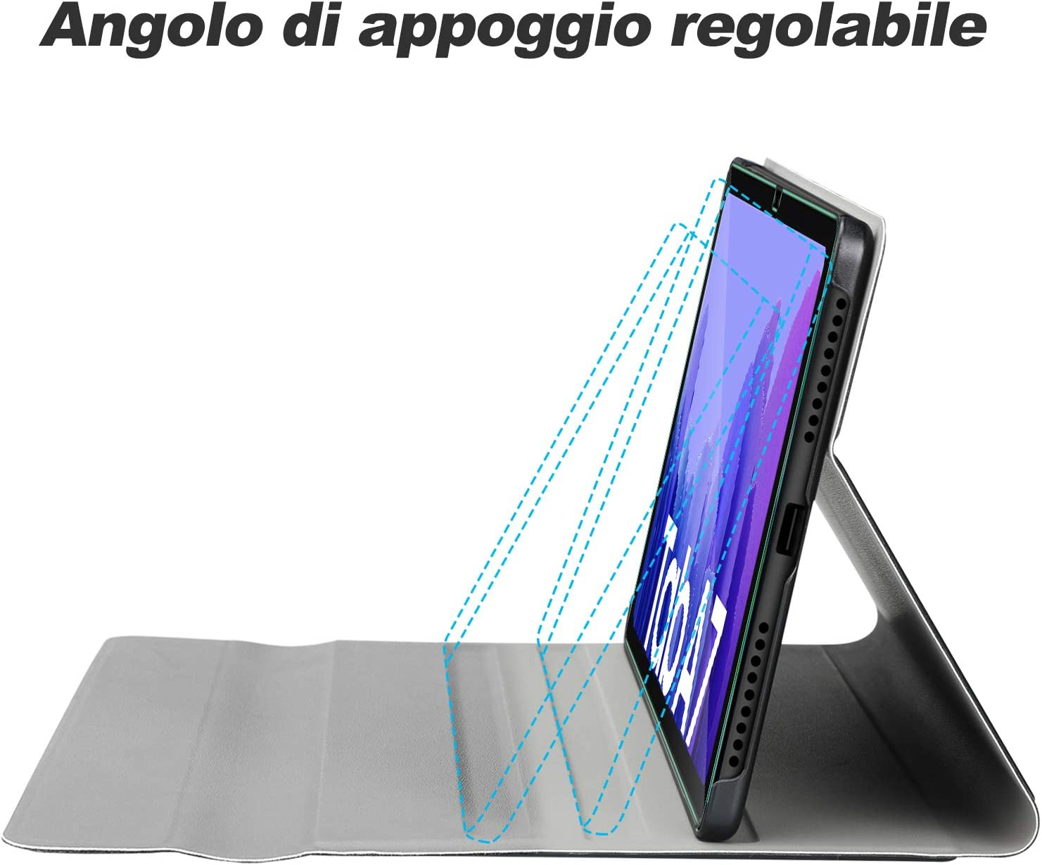 7 Colori Retroilluminata Rimovibile Wireless Tastiera Custodia con 2.5D,9H Vetro Temperato Nero IVSO Custodia con Tastiera Italiana per Samsung Galaxy Tab A7 T505//T500//T507 10.4 2020