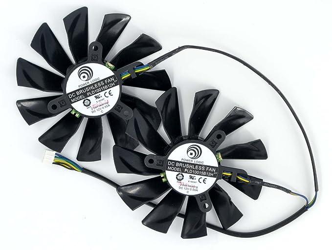 SUNKEE 2 Pcs/lot PLD10015B12H DC 12V 0.55A For MSI GTX680 GTX770 R9 280X R9-280X R7-260X Graphics Card Fan: Amazon.es: Electrónica