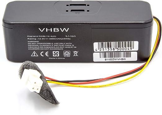 vhbw Batería Li-Ion 3000mAh (14.4V) para aspirador Samsung Navibot ...