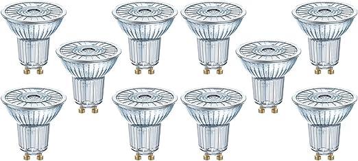 Image of Osram 10x LED Superstar PAR16, 36grados, 35W, GU10, luz blanca cálida           [Clase de eficiencia energética A+]