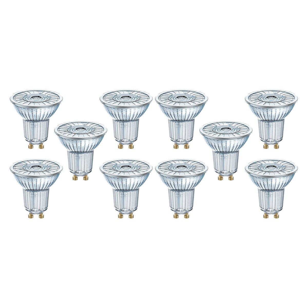 10x OSRAM PARATHOM P PAR 16 35 36° 4.5 W//3000K GU10 DIM LED Spots NEU//OVP