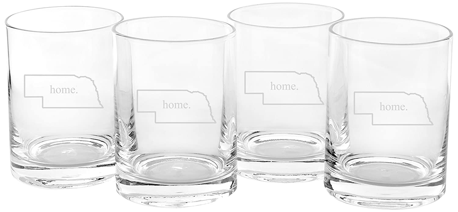 Cathys Concepts Personalized Home State Drinking Glasses Wyoming Cathy/'s Concepts 1113HS-WY Set of 4