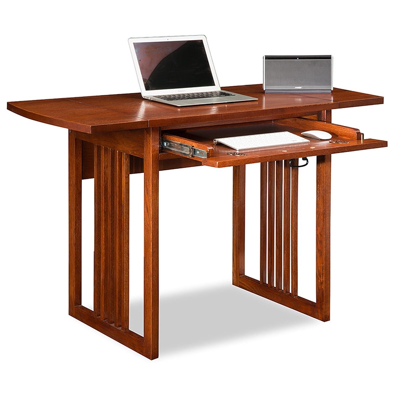 Amazon Com Leick 82420 Mission Oak Drop Leaf Computer Writing Desk