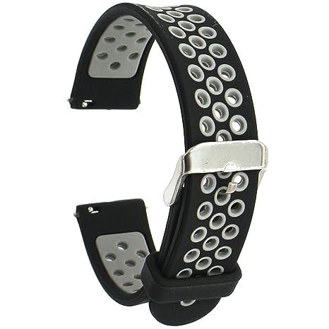 Elespoto 18mm Bracelet en Silicone souple pour Huawei Watch W1 Classic / Nokia Health Watch/