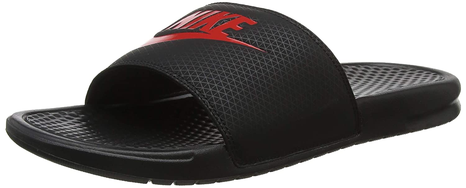 new style 4ac93 00765 Amazon.com   Nike Men s Benassi Just Do It Athletic Sandal, black challenge  red, 11 Regular US   Sandals