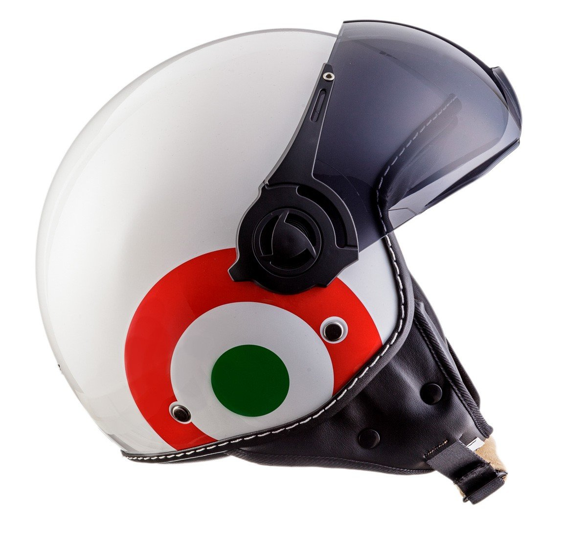 ECE certificado incluida Stofftragetasche MOTO HELMETS H44 Biker Jet-Helm Helmet Retro Scooter-Helm Chopper Vintage Mofa Cruiser Pilot Bobber Moto Helmetsrrad-Helm Roller-Helm Vespa-Helm