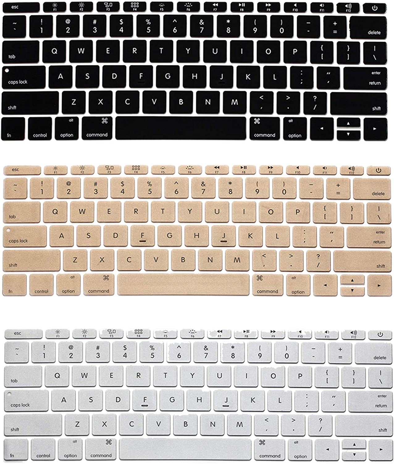 for MacBook Pro 13 Keyboard Cover Skin Protector US Style Keyboard Guard Shell for MacBook Retina 12 inch-one/_Color