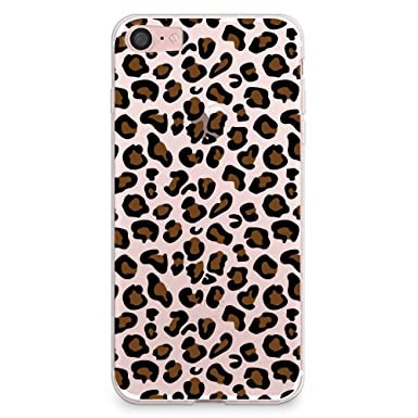 brand new fcc7c b0bdc iPhone 7 Plus Case, CasesByLorraine Leopard Pattern Clear Transparent Case  Animal Print TPU Soft Gel Protective Cover for Apple iPhone 7 Plus (A03)