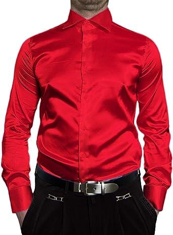 Renzo - Camisa Casual - Cuello Kent - Manga Larga - para Hombre: Amazon.es: Ropa y accesorios