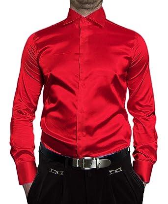 4f383e81ec1c5e stahl-moden Herren Designer Hemden B-Ware Glanz Hemd VIK10GVI Satin klassischer  Kent Kragen Lang Arm 2. Wahl  Amazon.de  Bekleidung