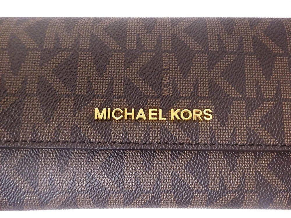 Michael Kors Jet Set Travel Large Trifold Leather Wallet Brown/Acorn by Michael Kors (Image #9)