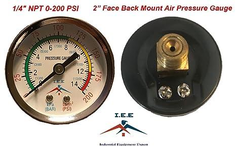 Compresor de aire a presión/manómetro hidráulico de 5 cm para la parte trasera de