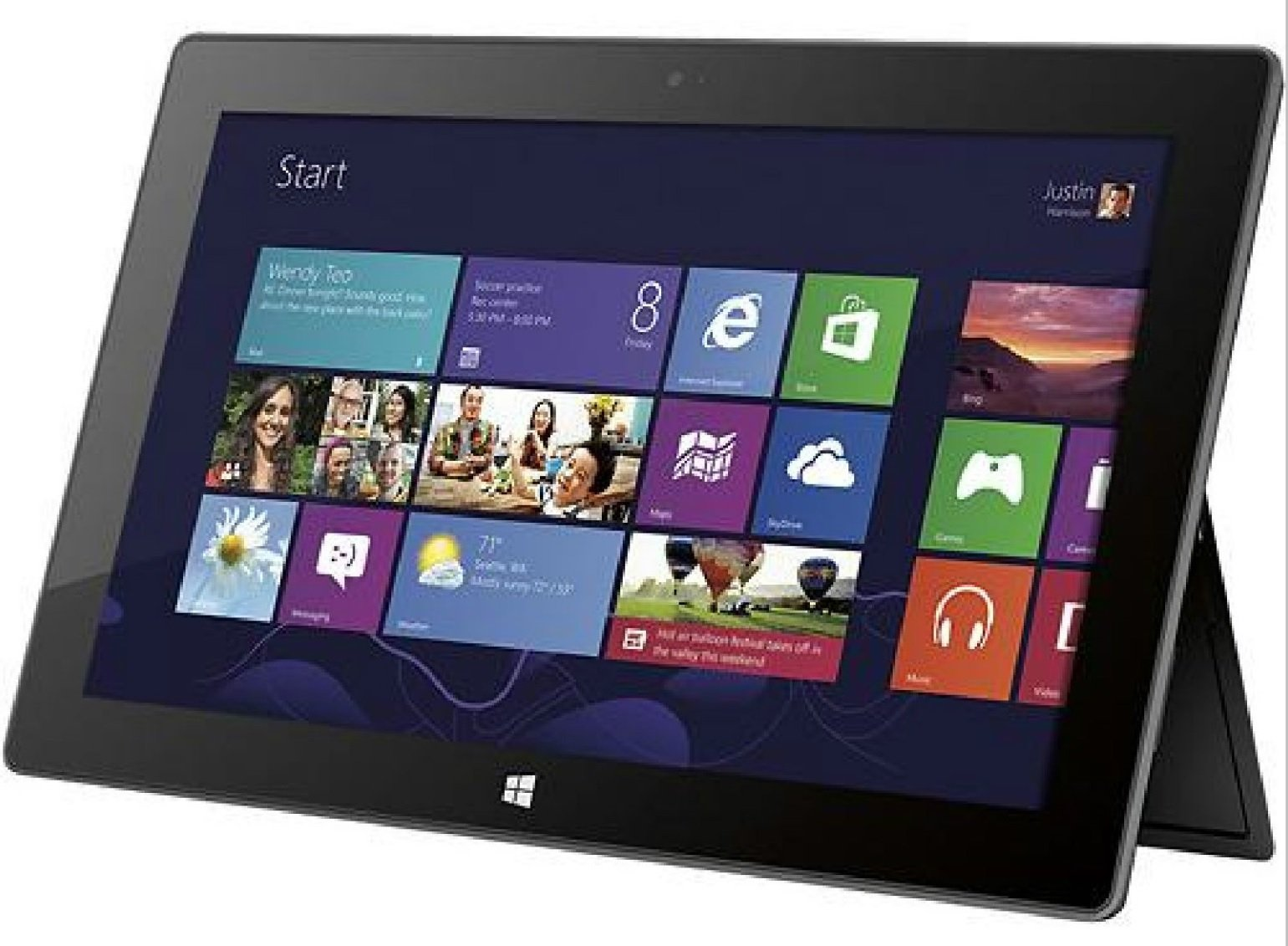 Microsoft Surface 64GB Tablet with Microsoft Office Home and Student 2013 RT, wifi, Bluetooth by Microsoft