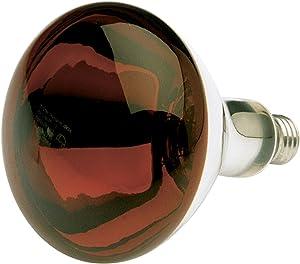 Satco S4884 120V 250 Watt R40 Medium Base Shatterproof Heat Lamp, Red
