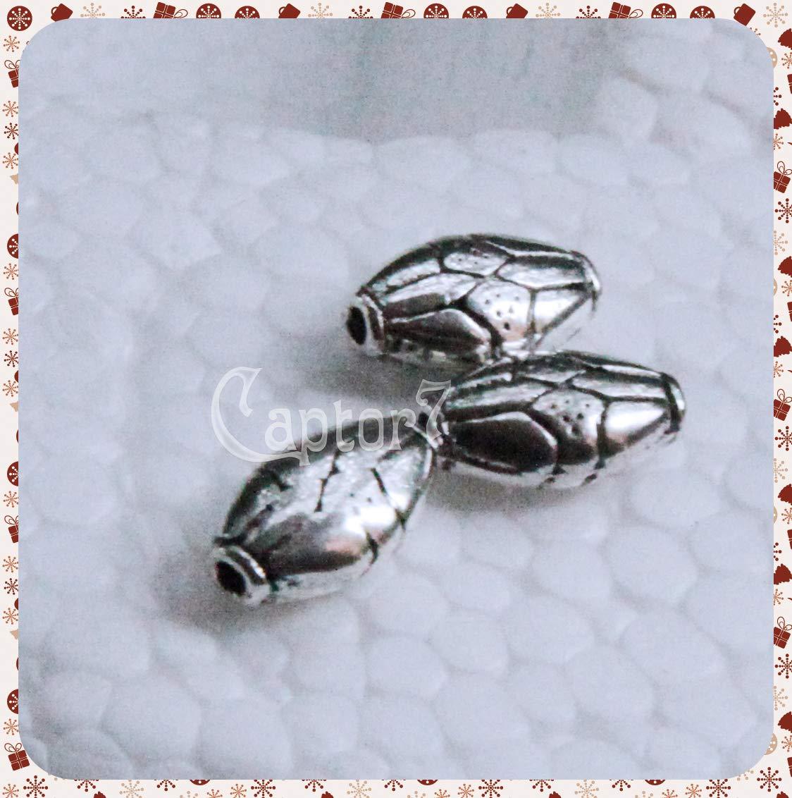 RomaLab 15/Spacer Separadores de Plata tibetana Grabados Dibujos geom/étricos 10/x 7/mm Perlas