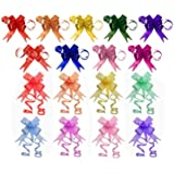 Penta Angel 170Pcs 17 Colors String Bows Basket Gift Pull Bows Gift Knot Ribbon Present Wrapping Décor Bows for Birthday Wedd