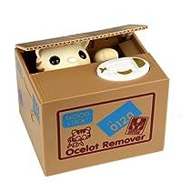 HmiL-U Cute Animal volent l'argent Automatic Boîte Tirelire économiser Monnaie avec Voix Cadeau d'Anniversaire et de Noël pour Enfant (Chat Porte Bonheur)