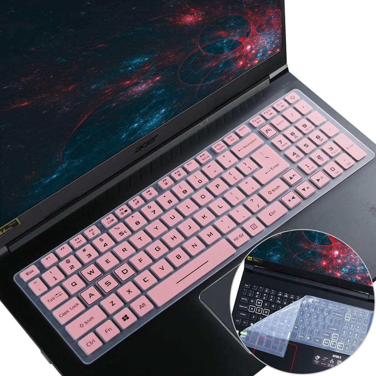 2PCS i-Tensodo Keyboard Cover for 2020 Acer Predator 15.6 Laptop/Nitro 5 AN515-43/44/54/55, AN517-51/52 AN715-51/52 15.6