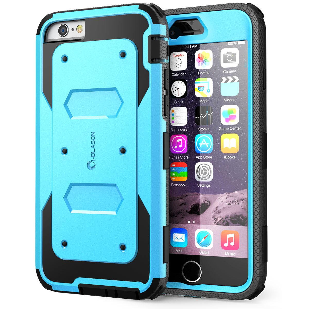 iPhone 6s Plus Case, [Armorbox] i-Blason Built-in [Screen Protector] Heavy Duty Shock Reduction [Bumper] for Apple iPhone 6 Plus 5.5 Inch (Blue) by i-Blason